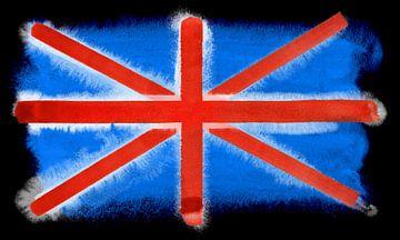 Symbolische nationale vlag van Groot-Brittannië van Achim Prill