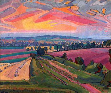 Spencer Gore, De Icknield-weg - 1912 van Atelier Liesjes