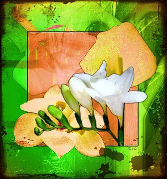 Florale Spielerei 02 van Gertrud Scheffler