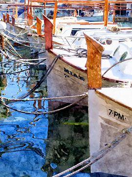 Fishing boats in the harbor - Mallorca von Andreas Wemmje