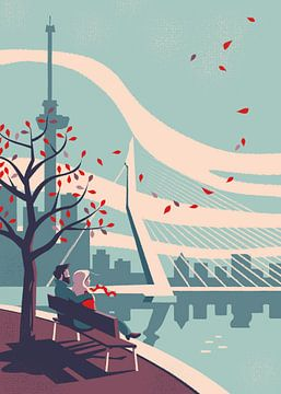 Herfst in Rotterdam van Eduard Broekhuijsen
