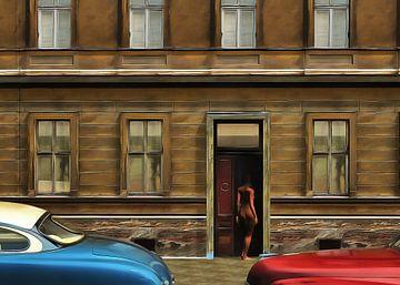Retro – Klassiek Het naakt in de deur