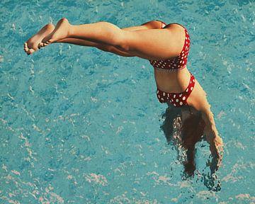 Fille plongeant dans l'eau sur Jan Keteleer