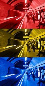 3x Londen underground verticaal van