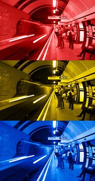 3X London U-Bahn vertikal von Ton de Koning