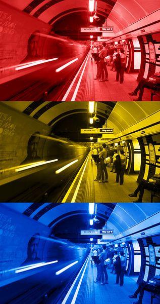 3x Londen underground verticaal van Ton de Koning
