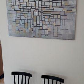 Klantfoto: Piet Mondriaan. No. 11, op aluminium