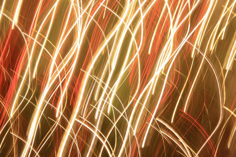Lighttrails abstract van MSP Canvas