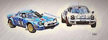Lancia Stratos HF - bandeau von JiPé digital artwork