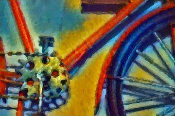 Buntes Fahrrad von Greta Lipman