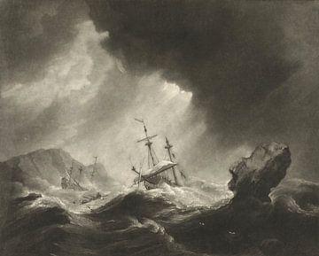 Schiffsbruch auf stürmischer See, James Watson nach Willem van der Welde