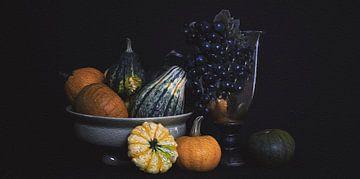 Stilleben Kürbis im Herbst von Mei Bakker