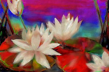Pop Art - Waterlelies van Christine Nöhmeier