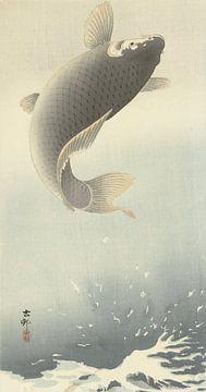 Opspringende karper van Ohara Koson