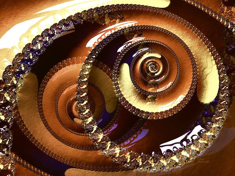 Fractal Swirl Cappuccino