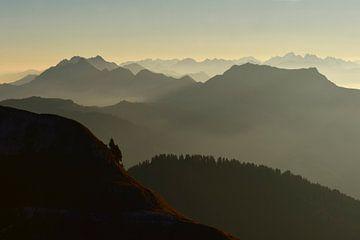 Mountains at sunrise... Bernese Oberland *Swiss Alps* van wunderbare Erde