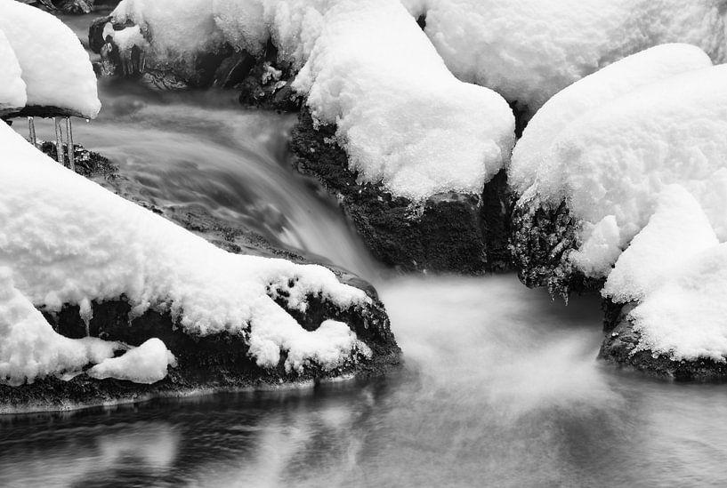 Riviertje in de winter van Gonnie van de Schans