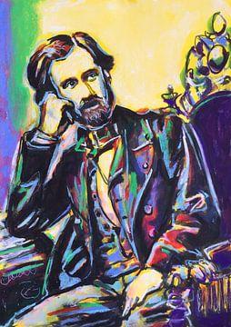 Porträt von Giuseppe Verdi von Helia Tayebi Art