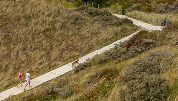 Wanderer in den Dünen von Percy's fotografie
