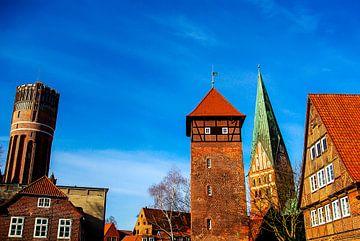 Tour d'eau, tour, église St. John's sur Norbert Sülzner