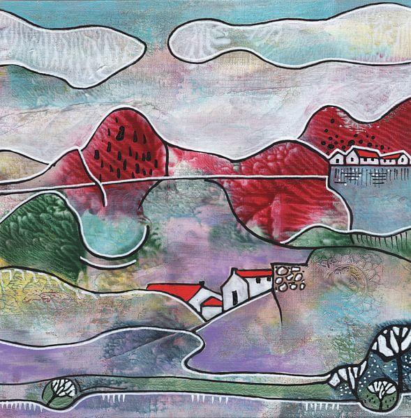 Saisonale Landschaft - Sommer von Ariadna de Raadt-Goldberg