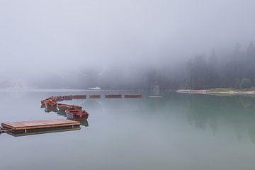 Lago di Braies in de Dolomieten