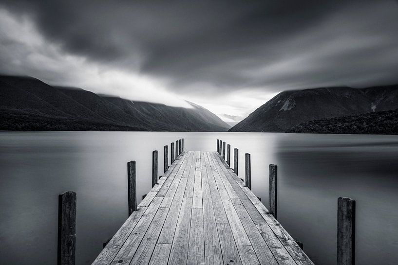 Nebel über Lake Rotoiti in Neuseeland von Markus Lange