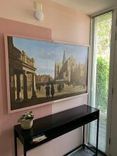 Klantfoto: De Grote Markt, Haarlem, Gerrit Berckheyde, op naadloos behang