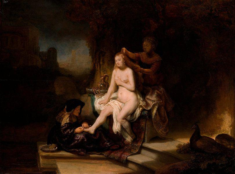Die Toilette von Bathseba, Rembrandt von Rembrandt van Rijn