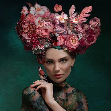 De vrouw met de bloemen van OEVER.ART