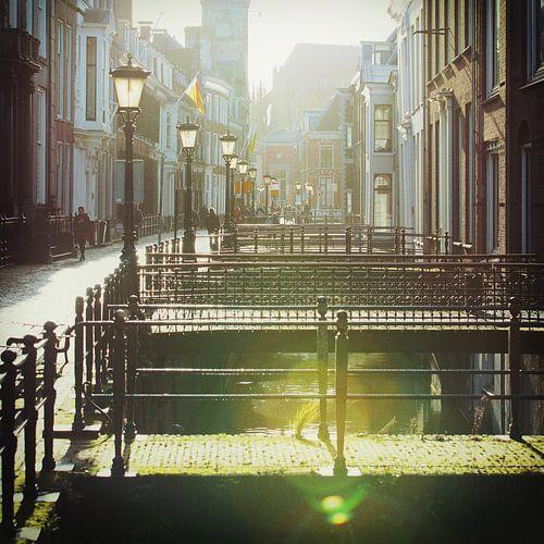 De Drift in Utrecht bij tegenlicht van