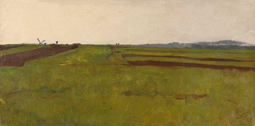 Landschaft mit Feldern, Willem Witsen von Meesterlijcke Meesters