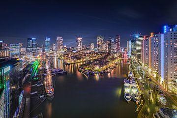 Skyline en Cityscape Rotterdam van Original Mostert Photography