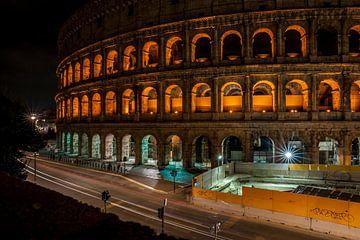 colosseum Rome by night van Hilda van den Burgt