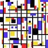Mondriaan stijl gemaakt kunstwerk van Gert Hilbink thumbnail