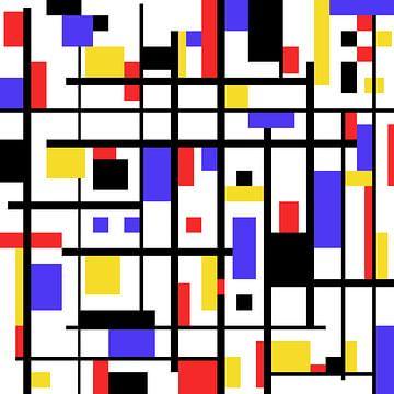 Kunstwerk im Mondrian-Stil von Gert Hilbink