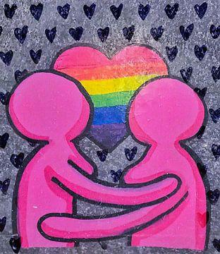 Liebe Paar Street Art von David Potter