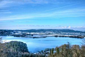 Panoramablick über den Walchensee