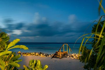 Blauw uur in de Malediven van Christian Klös
