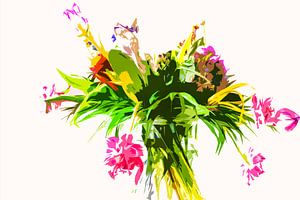 Stilleven van bloemen in een vaas von