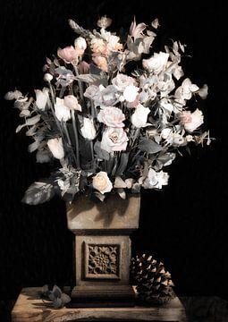 Bloemen voor aan de muur van