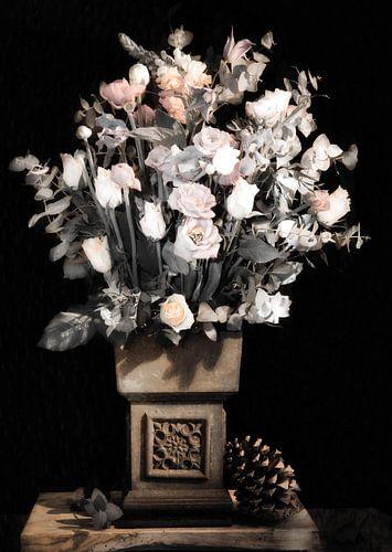 Bloemen voor aan de muur