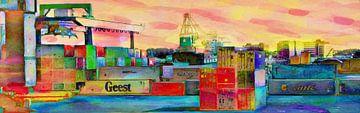 Containers Vibrant sur Frans Jonker