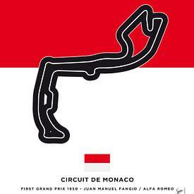 My F1 MONACO Race Track Minimal Poster von Chungkong Art