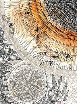 Zonnebloem van Yvonne Jansen