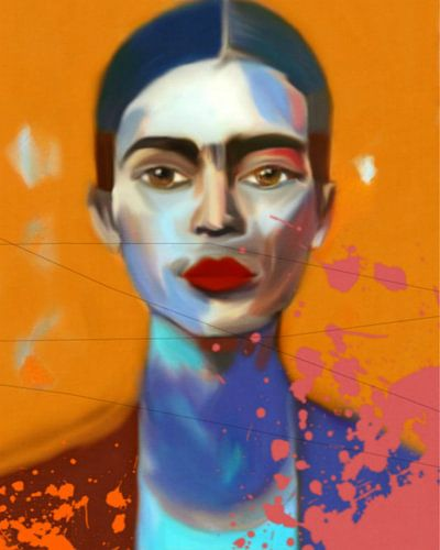 Frida Kahlo Expressive Pop Art