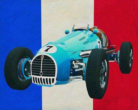 Gordini T16 Grand Prix 1952 met Franse vlag