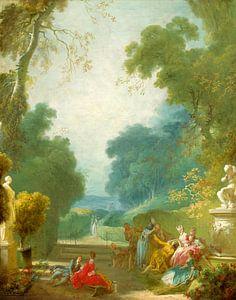 Een spel van warme Kokkels, Jean-Honoré Fragonard