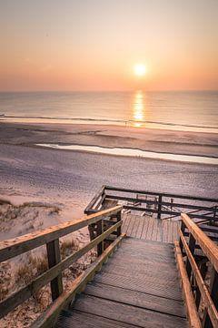 Treppe zum Strand  in Kampen, Sylt von Christian Müringer