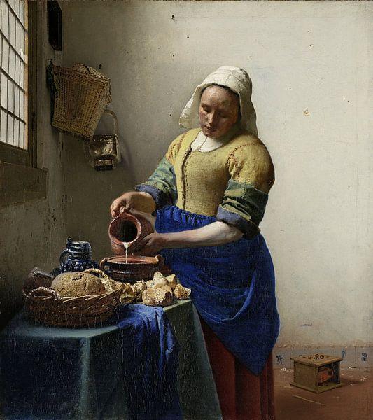 Dienstmagd mit Milchkrug - Vermeer gemälde von Schilderijen Nu